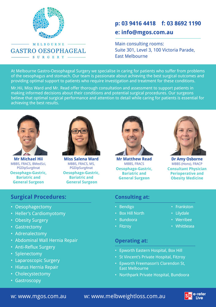 Melbourne Gastro-Oesophageal Surgery