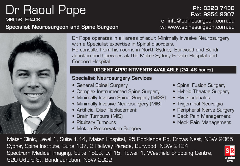 Dr Raoul Pope